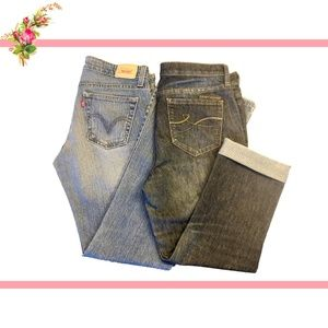 X2 Boot, Crop Mid/High Rise Jeans Levi's DKNY 7/8